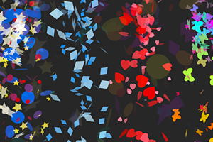 Confetti Collection Particles for Unity 3D
